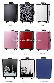 Luggage With Drawers New Design Lights Aluminum Beauty Luggage Set With Drawers