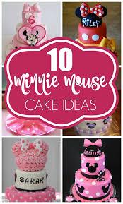 minnie mouse cake ideas e