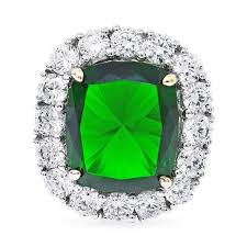 emerald rings differences between the real and synthetic. Silver And Synthetic Emerald Stylish Statement Rings. Hover To Zoom Rings Differences Between The Real