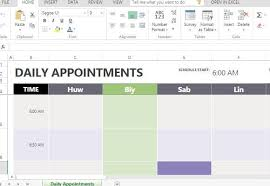 Daily Appointment Book 2015 Daily Appointment Calendar Template For Excel Threeroses Us