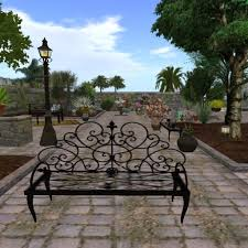 Awesome Wrought Iron Patio Bench Antiques Atlas Small Cast Iron Outdoor Wrought Iron Bench