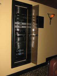 Media Closet Design In Wall Home Theater Technology Closet Home Theater