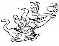 I Flintstones Disegni Da Colorare E Stampare Gratis Immagini Per