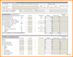 Church Budget Example Spreadsheet Excel Template 10 Sample