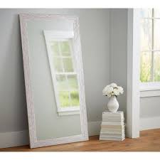 white floor mirror. Rich Rustic Rectangle Brown/White Floor Mirror White R
