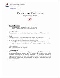 Entry Level Phlebotomist Cover Letter Lovely Resume For Lab