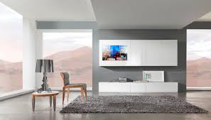 design living room furniture. Beautiful Modern Light Grey Living Room Decoration Using White Entertainment Center Including Square Furry Rug And Minimalist Design Furniture R