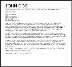 Sample Non Profit Cover Letter Example For Jobs New Resume Valid