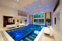 home indoor pool with bar. Brilliant With This Home In Saddle River NJ Includes An Indoor Swimming Pool With Two  24foot U0027water Wallsu0027 That Circulate Water Back Into The And Hot Tub Inside Home Indoor Pool With Bar T