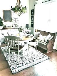 dining room ea rugs under table rug fmhouse pictures kitchen cabinet organizer adorable round size chart area for tables tab