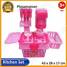 momo toys my lovely kitchen set 901k pink mainan masak masakan mainan anak perempuan
