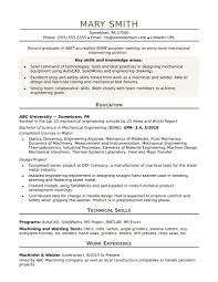 Mechanical Design Engineer Resume Sample Lighting And Senior