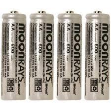 Camelion AA NiCad 1000mAh Solar Light Batteries 24pk Plastic Case Solar Light Batteries Aa