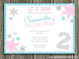 Snowflake Birthday Invitations Snowflake Party Invites Magdalene Project Org