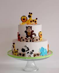 Safari Baby Shower  Safari Baby Shower Cake 3tier Round Baby Shower Safari Cakes