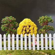 wooden picket fence garden mini