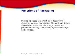 Functions Of Package Design Ppt Chapter 31 Branding Packaging And Labeling