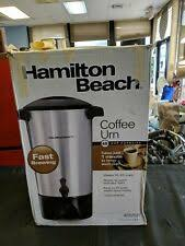 With the hamilton beach 45 cup coffee urn you have plenty of flexibility and can brew anywhere from 15 to 45 cups depending on your needs. Hamilton Beach 40515r 45 Cup Coffee Urn And Hot Beverage Dispenser Silver For Sale Online Ebay