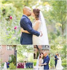 cleveland wedding photographer groomsmen in navy suits stan hywet fall wedding stan hywet