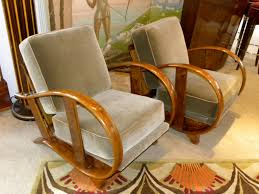 art moderne furniture. czech bentwood art deco chairs moderne furniture