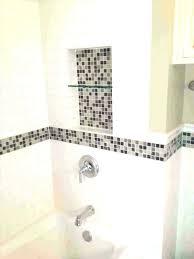 bathroom accent tile glass