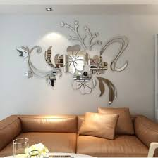 38 3d stereo flower wall mirror wall stickers on unique wall art cheap with wall decor cheap bedroom wall decor and wall decorations for sale