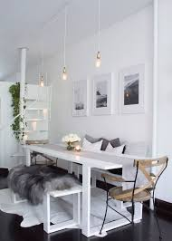 all white furniture design. williamsburg brooklyn all white scandinavian inspired apartment dining room furniture design