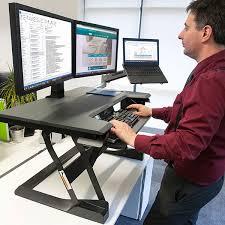 brilliant ergotron 33 397 085 workfit t sit stand desktop workstation black sit stand workstation decor
