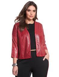 studio perforated faux leather bolero women s plus size coats jackets eloquii