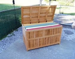 teak outdoor patio deck storage box for outdoor furniture cushions regarding outdoor cushion storage containers diy