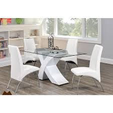 white glass furniture. Mazin Helena White Glass 7-piece Dining Set 776 Furniture