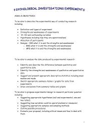 Different Experimental Designs Statistics Psychological Investigations Experiments