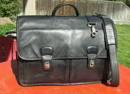 details about vtg coach prescott made in usa black leather men s briefcase messenger bag