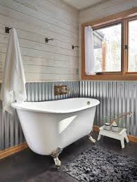 rustic cottage bathroom ideas things for camp goudreau corrugated metal fence corrugated metal ceiling