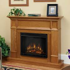 real flame camden 45 inch electric fireplace shown installed in room