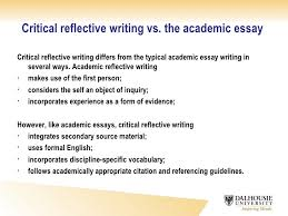 critical reflective writing critical reflective writing