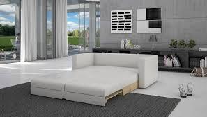 Wohnzimmer Couch Schlaf Sofa Mit Kunstleder In Wei 140x200 Cm Tonsbra 140 Sofa