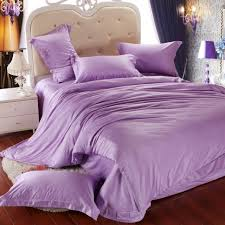 luxury light purple bedding set queen king size lilac duvet cover double bed in a bag