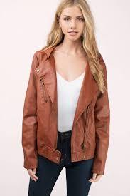kayliegh camel moto jacket