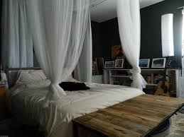 Canopy Bed Curtains For Adults With Charming White 4 Poster Canopy ...