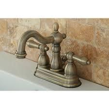 kingston brass kb1603al heritage 4 centerset lavatory faucet with retail pop up vintage