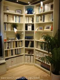 probably Billy bookcases? think about a corner bookcase - IKEA DECOR'S