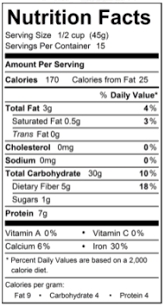 oats nutrition facts happy quick oats