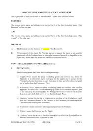 Business Agency Agreement Template NonExclusive Marketing Agency Agreement Template BurgieLaw Store 3
