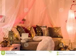 Lights For Teenage Bedroom Fairy Lights In Teen Bedroom Stock Photo Image 64720707