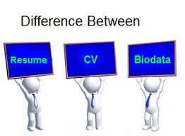 Difference Between Resume Curriculum Vitae Cv And Biodata