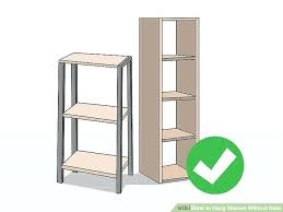 medium size of no hole wall shelf cubby shelves how to hang without nails steps with