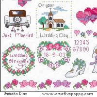 Wedding Cross Stitch Patterns Impressive Maria Diaz Wedding Mini Motifs Cross Stitch Pattern Charts