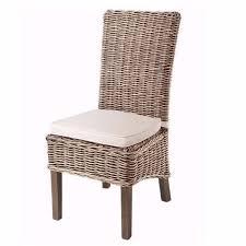 modish furniture. grey wash rattan dining chairs with cream cushion pair modish living furniture s