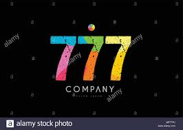 777 Logo Design Number 777 Logo Icon Design With Grunge Texture And Rainbow
